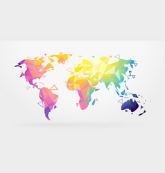 world map low poly vector image