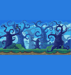 cartoon of the fairy forest vector image