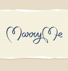 Marry me hand lettering vector