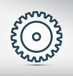 Cog - gear icon vector