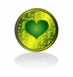 pound sterling heart vector image