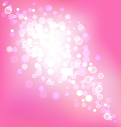 Elegant pink background with bokeh lights vector