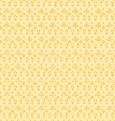 Yellow seamless paisley vector