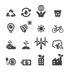 save the earth icons vector image