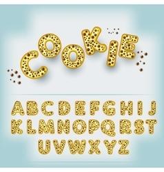 Comic cartoon candy style alphabet vector image