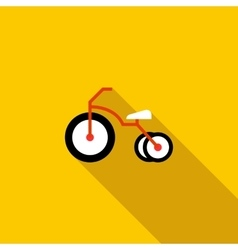 Kid bicycle icon flat style vector