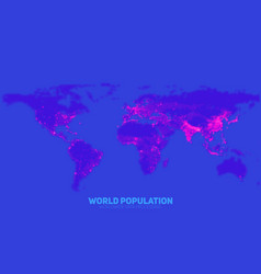 Abstract world population density vector