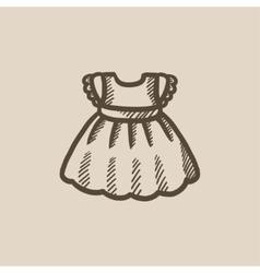 Baby dress sketch icon vector image