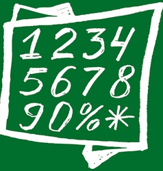 Back to school background white numbers on a green vector