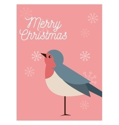 Bird cartoon of christmas season design vector