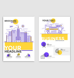 brochure design template - business vector image vector image