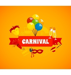 Carnival flat background vector