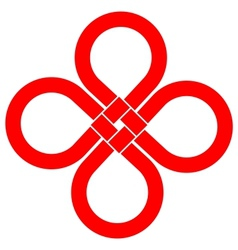 Cloverleaf knot good luck symbol vector