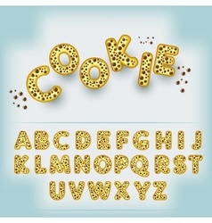 Comic cartoon candy style alphabet vector image