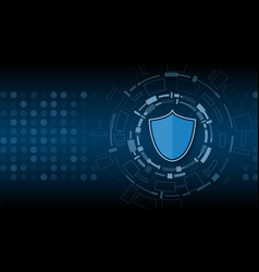 Cyber technology security network protection vector