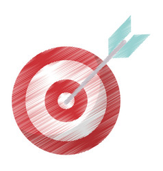 Drawing target blank arrow objetive vector