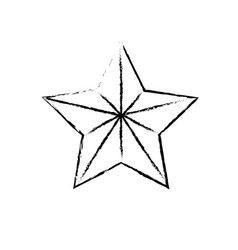 Figure cute modern and big star design vector