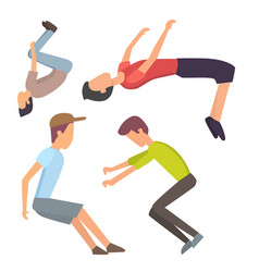 fitness sport parkour people concept young person vector image