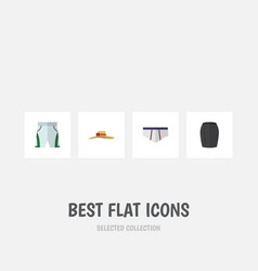 flat icon dress set of underclothes stylish vector image vector image