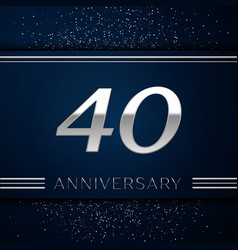 Forty years anniversary celebration logotype vector