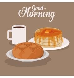 Good morning breakfast design vector