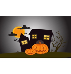 Halloween Mansion in dark night vector image