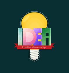 Idea text creative idea concept template design vector