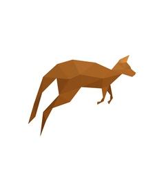 origami kangaroo isolated on white background vector image