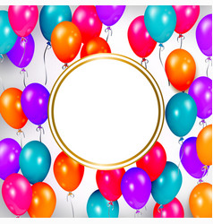 party banner with balloons and space for text vector image vector image