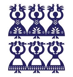 Polish folk art pattern Wycinanki Kolbielskie vector image vector image