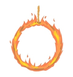 Ring of fire icon cartoon style vector