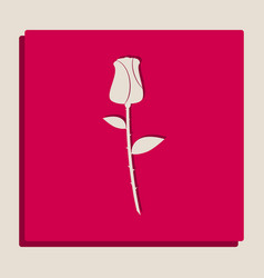 Rose sign grayscale version vector