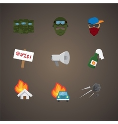 Simple set of protest related flat icons vector image vector image