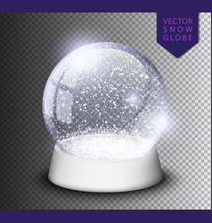 Snow globe isolated template empty on transparent vector