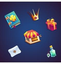 Sweet world mobile GUI set elements video web vector image vector image
