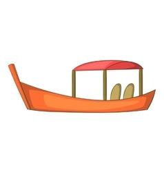 Thai boat icon cartoon style vector