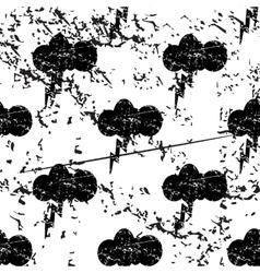 Thunderbolt pattern grunge monochrome vector
