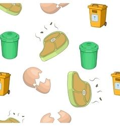 Trash pattern cartoon style vector