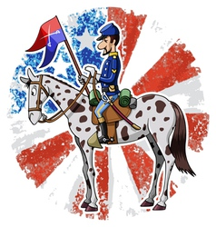 us cavalry vector image