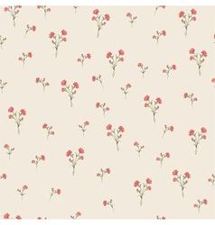 Vintage carnations pattern vector