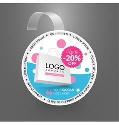 Wobbler design template Sale event vector image