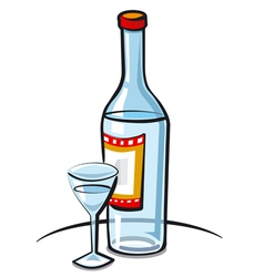 vodka vector image