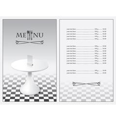 menu chess vector image