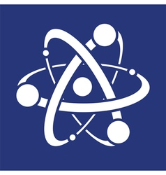 symbol of atom vector image