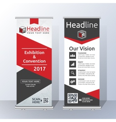 Roll Up Banner Template Design vector image