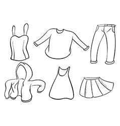 Silhouettes of dresses vector