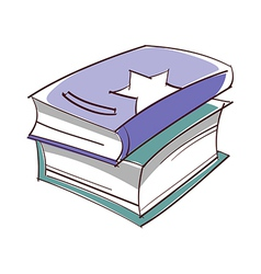Two books vector