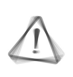 Exclamation danger sign flat style  gray vector
