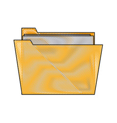 folder file paper document archive icon vector image