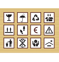packing symbols vector image